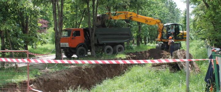 В парковой зоне города начался капитальный ремонт магистральной тепловой сети