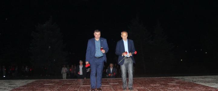 Виктор Тягай принял участие в памятном церемониале
