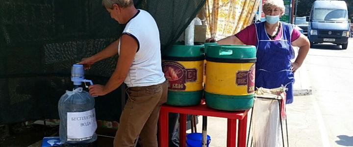 В Рыбнице организованы бесплатные пункты раздачи питьевой воды