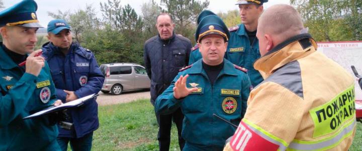 В Рыбнице прошли учения по ликвидации лесных пожаров