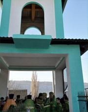 Владыка Савва освятил колокольню храма с. Жура Рыбницкого района