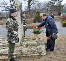 В Рыбнице возложили цветы в память о погибших защитниках