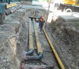В Рыбнице заменили внутриквартальную сеть отопления от ЦТП № 43