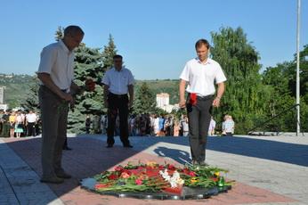 Ко Дню памяти и скорби в Рыбнице провели патриотические акции