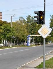 На двух перекрёстках городских улиц установлены светофорные объекты