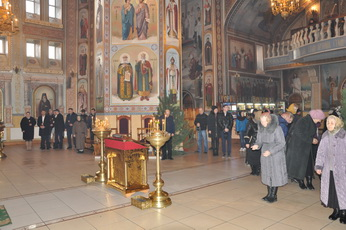 Вячеслав Фролов посетил Великое повечерие