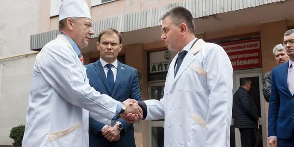 Президент пообщался с коллективом ГУ «Рыбницкая центральная районная больница»