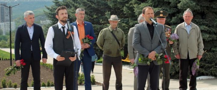 Вячеслав Фролов поприветствовал участников акции «Георгиевская ленточка»