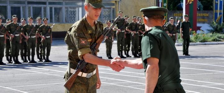 Глава госадминистрации поздравил солдат с принятием присяги