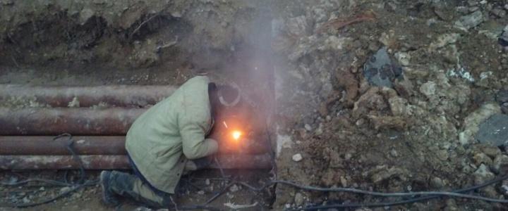 В Рыбнице устраняют порывы горячей воды