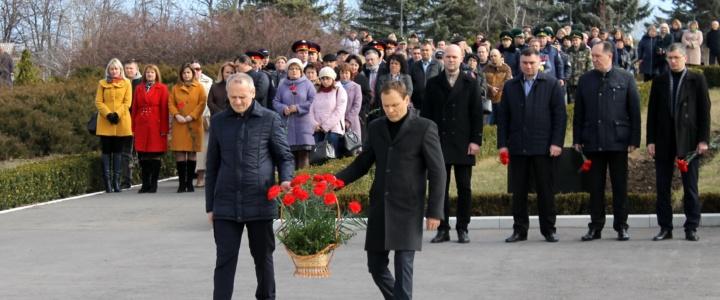 В Рыбнице прошел торжественный митинг, посвященный 27-й годовщине образования Народного ополчения