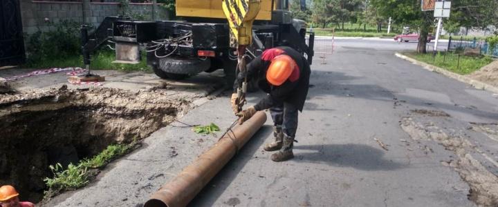 В Рыбнице ликвидируют порывы магистралей тепловых сетей