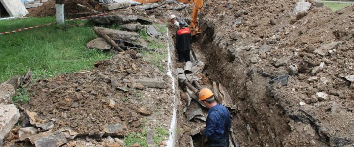 В Рыбнице ликвидируют порывы сетей горячего водоснабжения