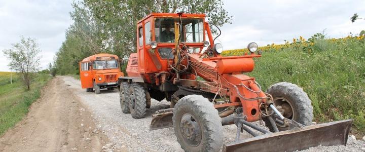 В Рыбницком районе восстанавливают дороги после ливневых дождей