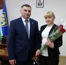Виктор Тягай поздравил Ангелину Молдовскую с назначением на должность главврача